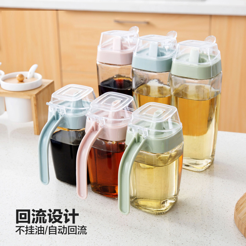 Glass oil bottles large oil bottles vinegar bottles sesame oil bottles kitchen supplies leakproof bottles vinegar bottle