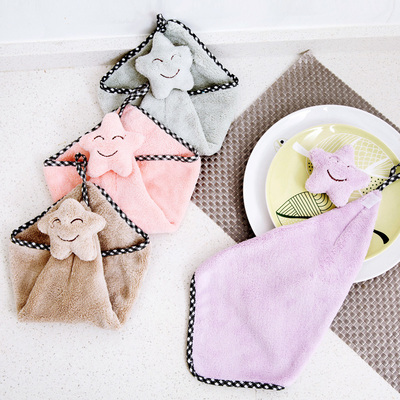 Can be linked to the stars wipe the towel lint-free kitchen cloth thickened absorbent kitchen towel cartoon towel