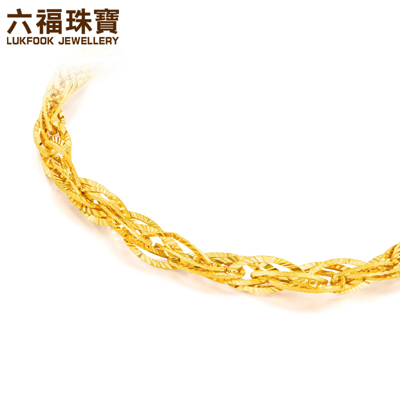 Fook jewelry Alice chain gold bracelet female personality new gold ...