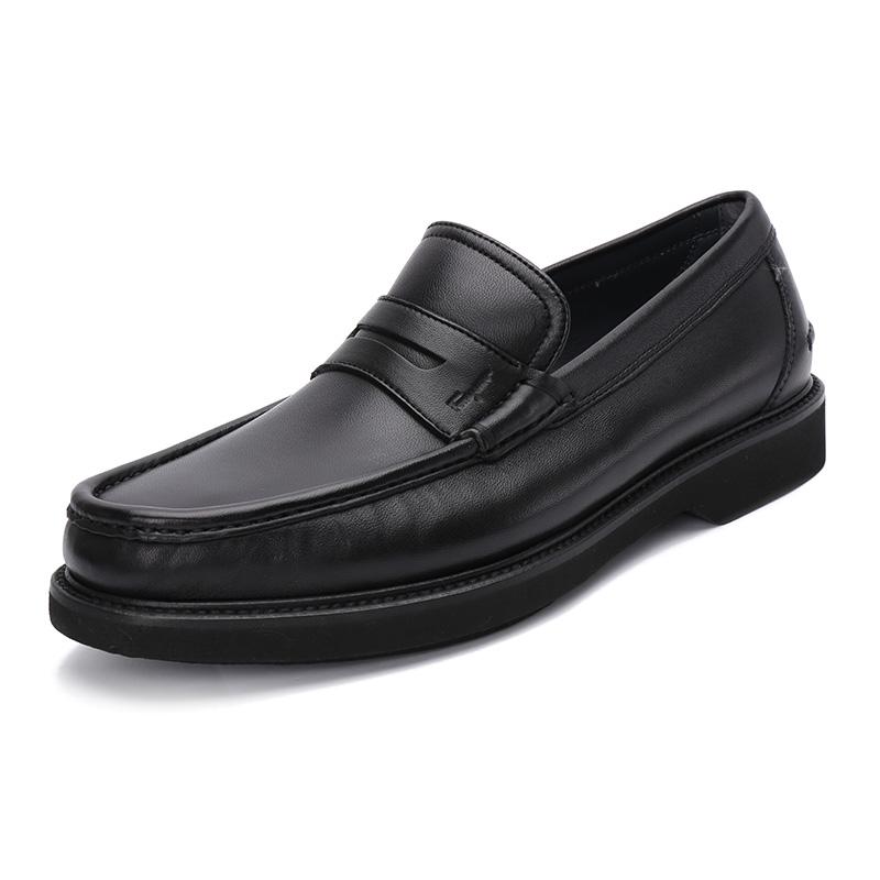 FERRAGAMO-菲拉格慕 车缝线装饰男士羊皮材质休闲鞋,EEE版