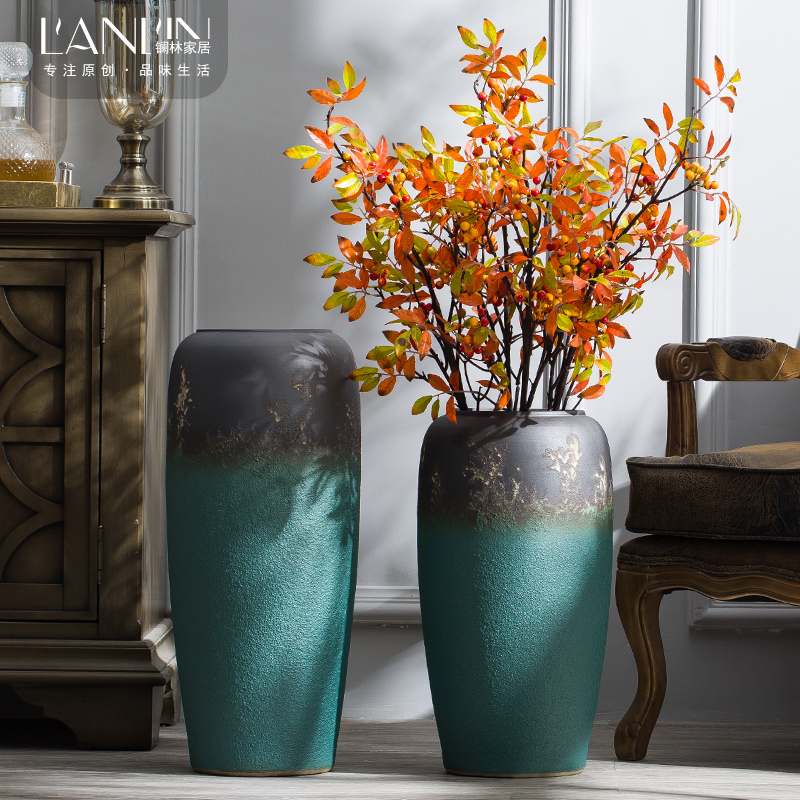Ceramic vase furnishing articles coarse some Ceramic pot sitting room villa simulation flower arranging flowers large art restores ancient ways the ground adornment