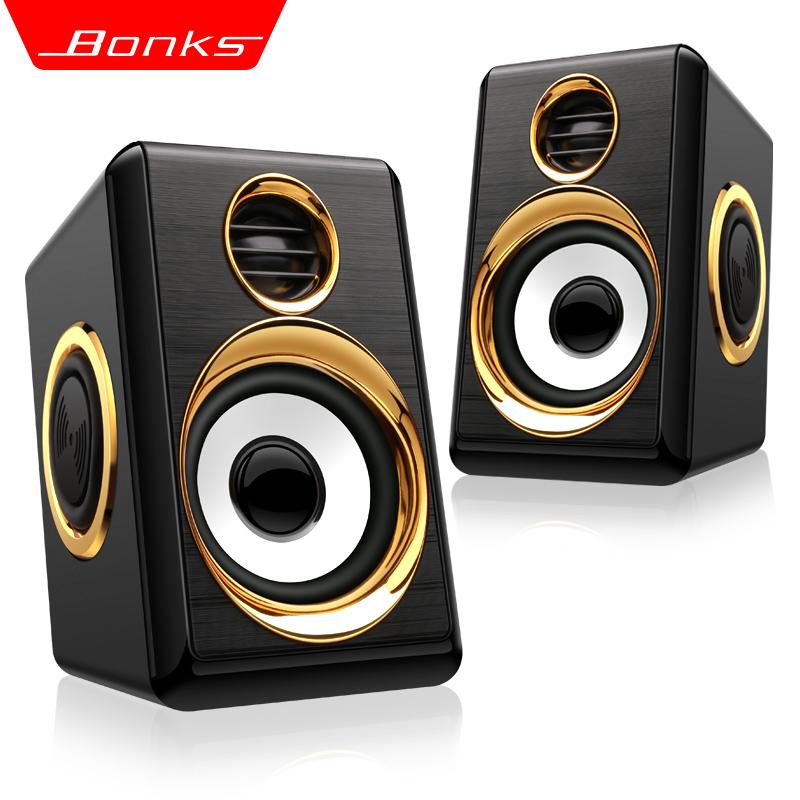 Bonks K1笔记本音响小音箱台式电脑手机USB重低音炮迷你便携家用