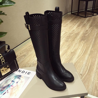 New 2018 Spring Summer Women Boots knitted Hollow high boots...