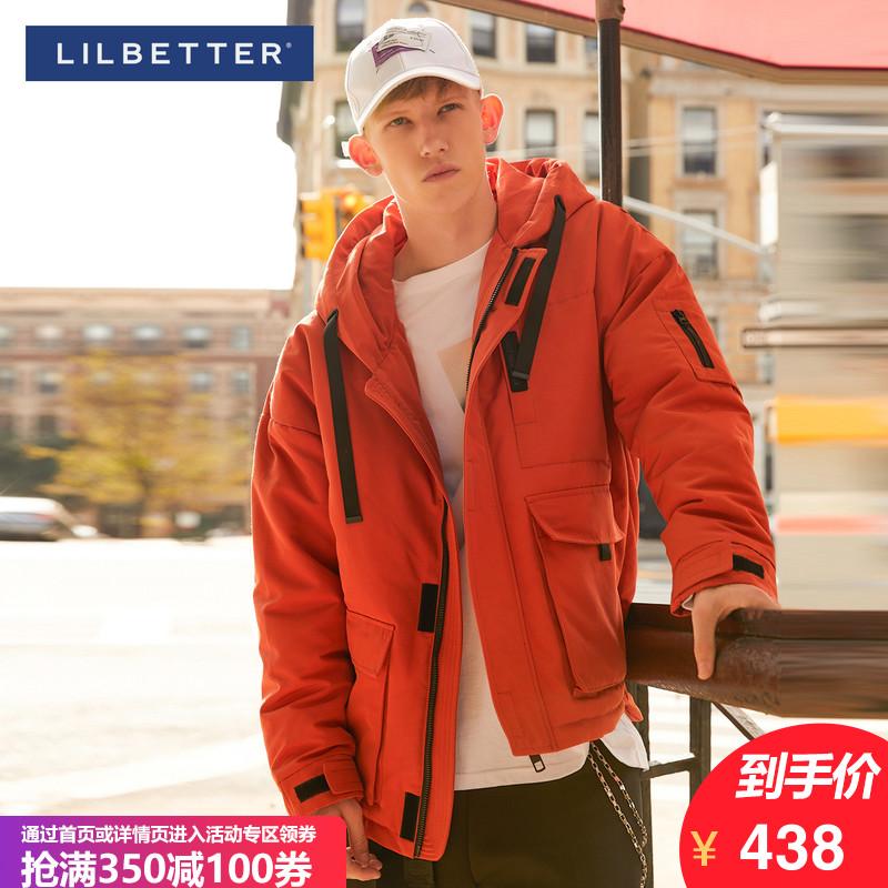 Lilbetter男士羽绒衣 冬天潮流个性短款外套轻薄修身日系羽绒服男