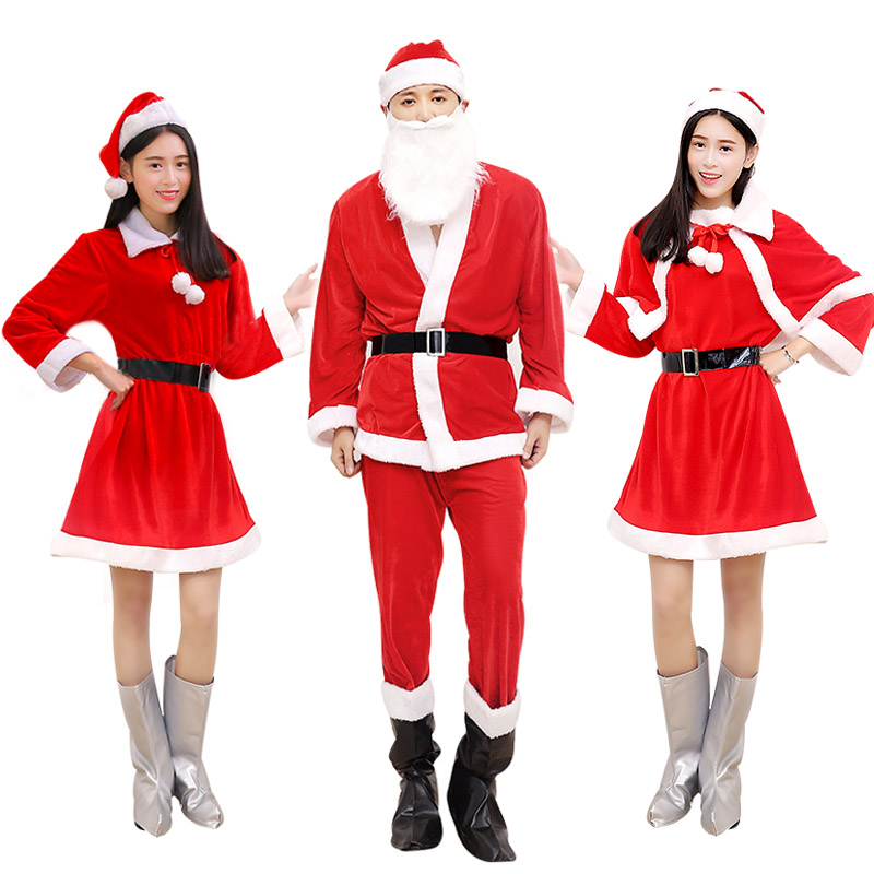Christmas Costumes Santa Cloths for Kids and Adults 449655