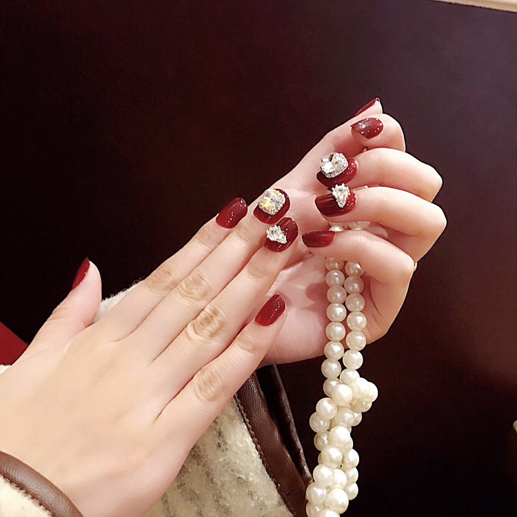 Yuna detachable fingertips box nail patch fake nails finished date ...