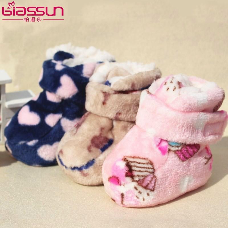 婴儿鞋0-6-12个月春秋冬季棉鞋0-1岁男女软底新生儿宝宝学步鞋子
