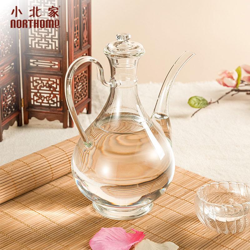 小北家NORTHOME耐热玻璃酒壶透明中式传统白酒壶一斤装套装分酒器