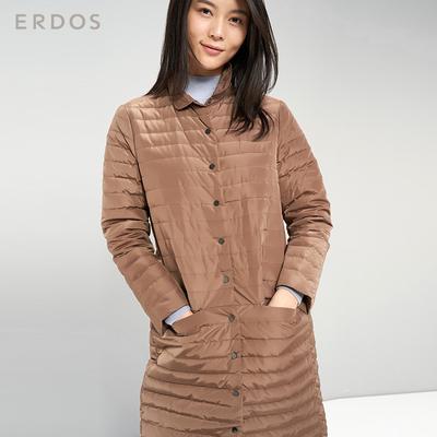 ERDOS 秋冬可双面穿90%白鸭绒女羽绒服E276JG008