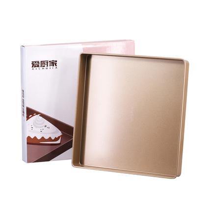 28cm正方形牛轧糖烤盘家用蛋糕卷披萨饼干曲奇面包烤箱烘焙模具