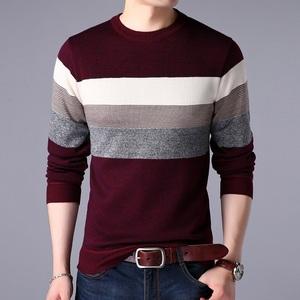 秋冬季新款男士毛衣男韩版圆领线衣男毛衫加厚加绒针织衫男装外套