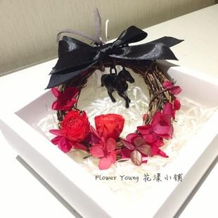Flower Young 花漾小铺 永生花车挂 花环系列
