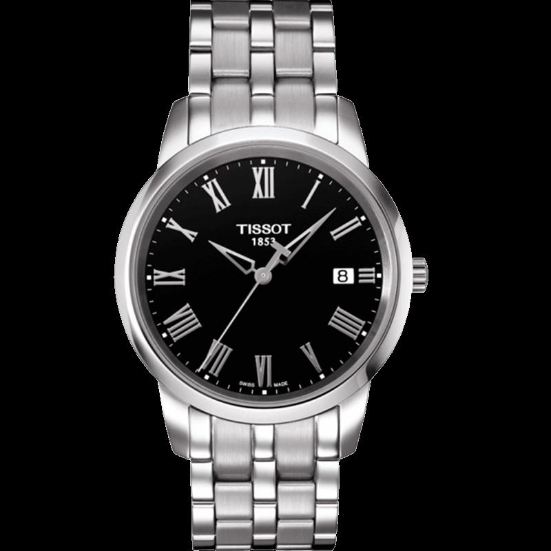 瑞士TISSOT-天梭手表钢带石英男表T033.410.11.053.01