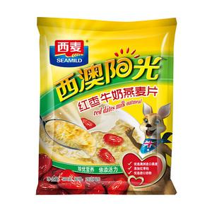 西麦红枣牛奶麦片即食早餐560g*2