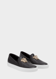 versace/范思哲18新款女鞋纯色美杜莎懒人鞋DSR488D