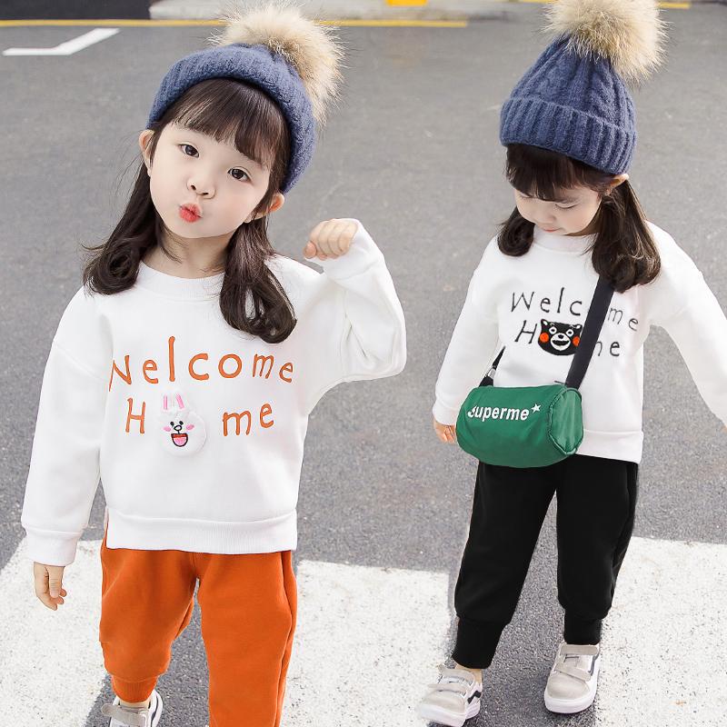 春秋女童洋气网红时髦两件套