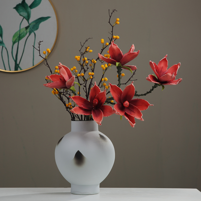New Chinese style zen furnishing articles ceramic vase dried flowers sitting room porch table decoration decoration between example TV ark