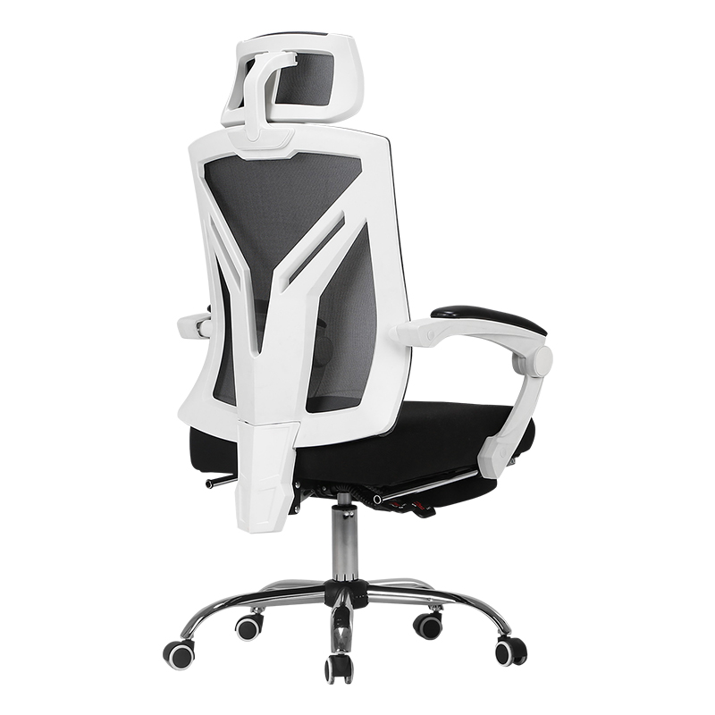 Black and white computer chair home ergonomic chair esports chair game chair chair back chair office chair