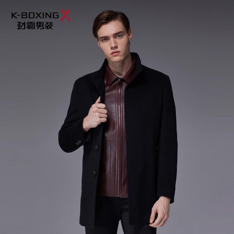 劲霸男士新品羊毛外套时尚帅气羊绒大衣|HYWL3641