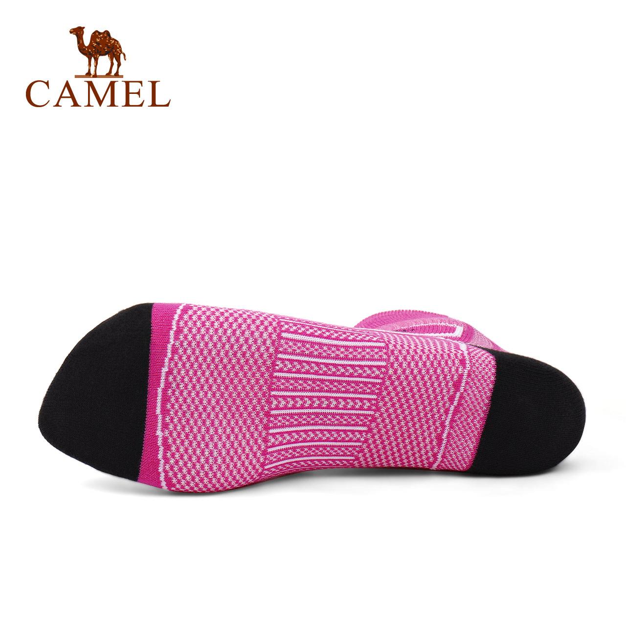 骆驼女款长袜 莱卡纤维吸湿排汗舒适透气针织中筒袜