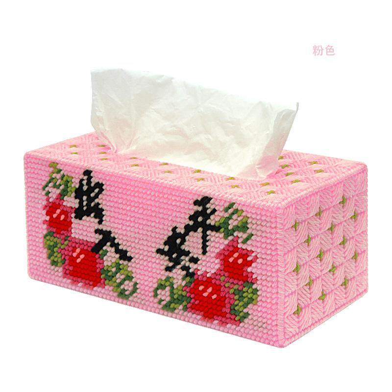 凉风十字绣立体绣毛线纸巾盒040出入平安