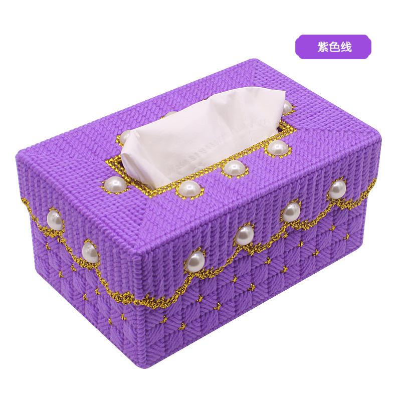 凉风抽纸盒十字绣汽婚礼纸巾盒