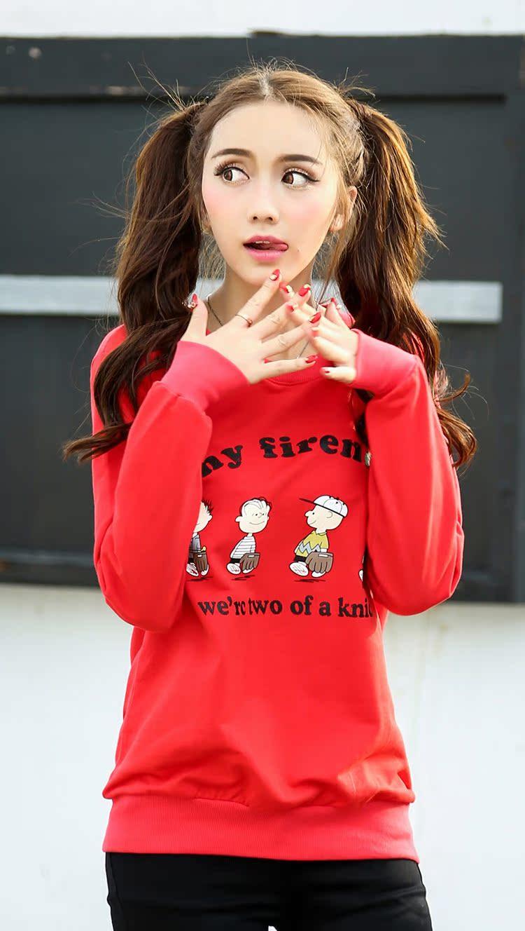 韩组合一个胖红头_春季加大码女装韩版套头卫衣女薄款春秋季女士上衣胖mm宽松外套潮