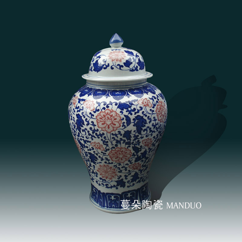 Jingdezhen porcelain art bound branches connect the general pot of high - grade porcelain pot ceramic furnishings classical furnishings
