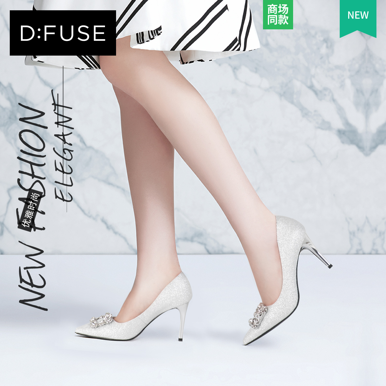 D:Fuse-迪芙斯2018年秋季商场同款尖头浅口高跟单鞋DF83111787