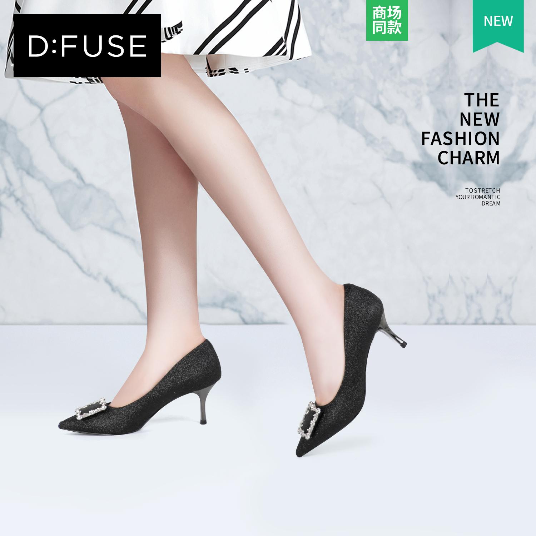 D:Fuse-迪芙斯2018年新款秋季尖头细跟浅口单鞋高跟鞋DF83111650