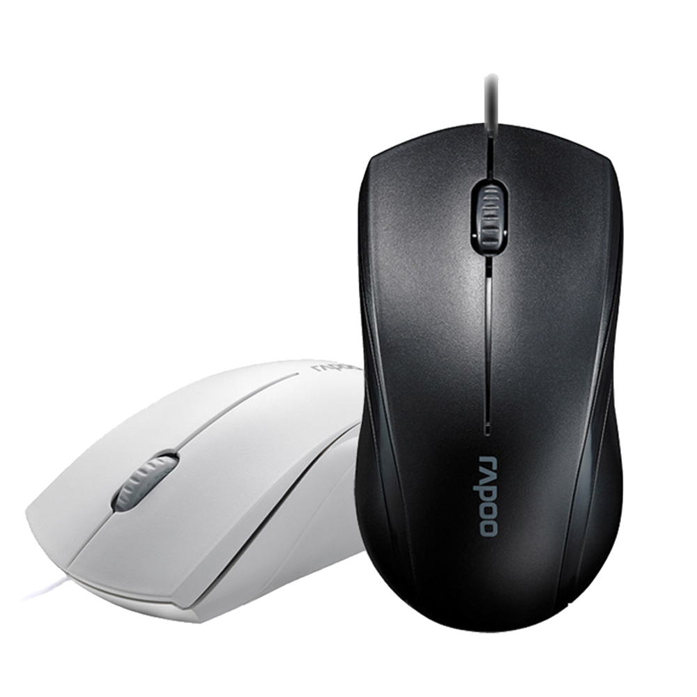 雷柏N1600静音有线鼠标 台式电脑笔记本USB鼠标办公游戏家用包邮