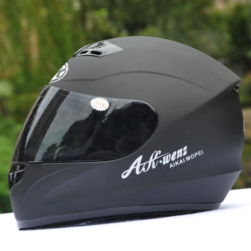 AK-艾凯头盔摩托车男电动车头盔女全盔带围脖冬季全覆式冬盔918