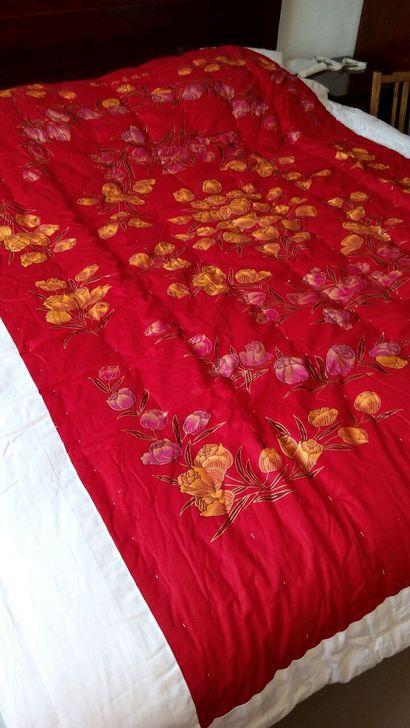 全新 新婚被子 大红色 老式做法 手工棉被图片