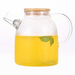 耐热玻璃茶壶玻璃茶具大容量玻璃冷水壶高温防爆果汁杯透明凉水杯