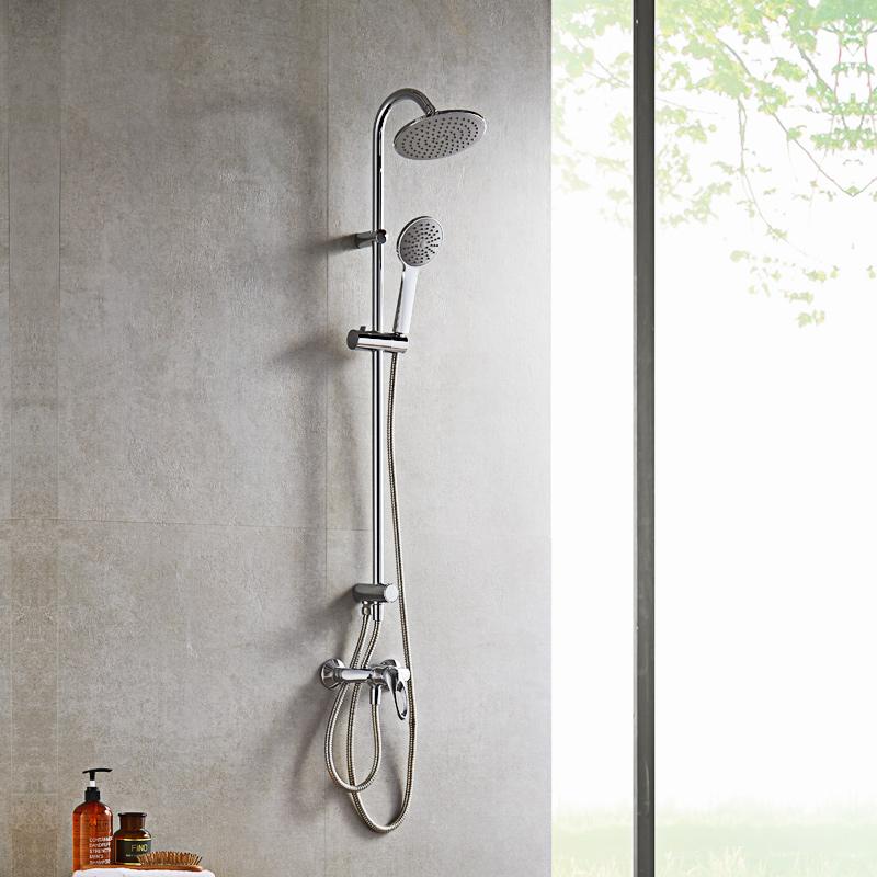 九牧JOMOO挂墙式浴室卫浴花洒套装可升降淋浴柱手持淋浴喷头36384