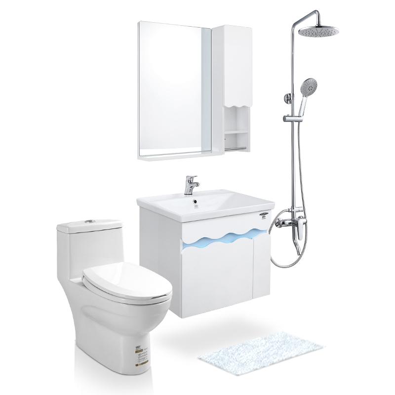 JOMOO九牧浴室柜组合套餐洗脸盆组合花洒马桶卫浴柜套装 ZHA2172