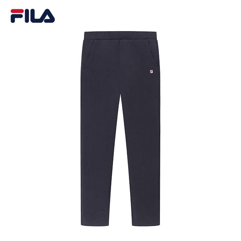 FILA斐乐女梭织长裤2018冬季新品时尚优雅直筒裤运动休闲长裤女