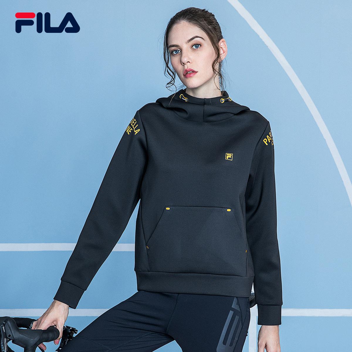 FILA斐乐RED系列女跑步卫衣2018秋季新品连帽套头衫耐磨保暖上衣