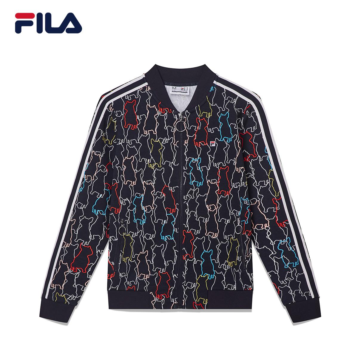 FILA斐樂Jason Wu聯名女外套2018秋季復古時尚涂鴉設計棒球外套女
