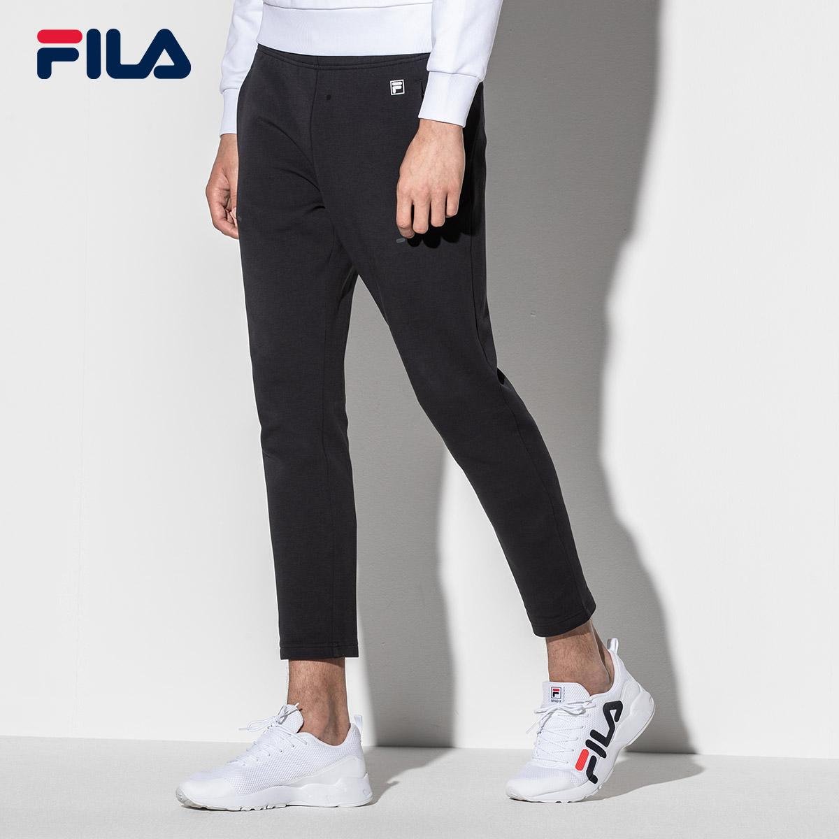 FILA斐乐长裤男运动裤2018秋季新款运动休闲针织裤透气修身男裤