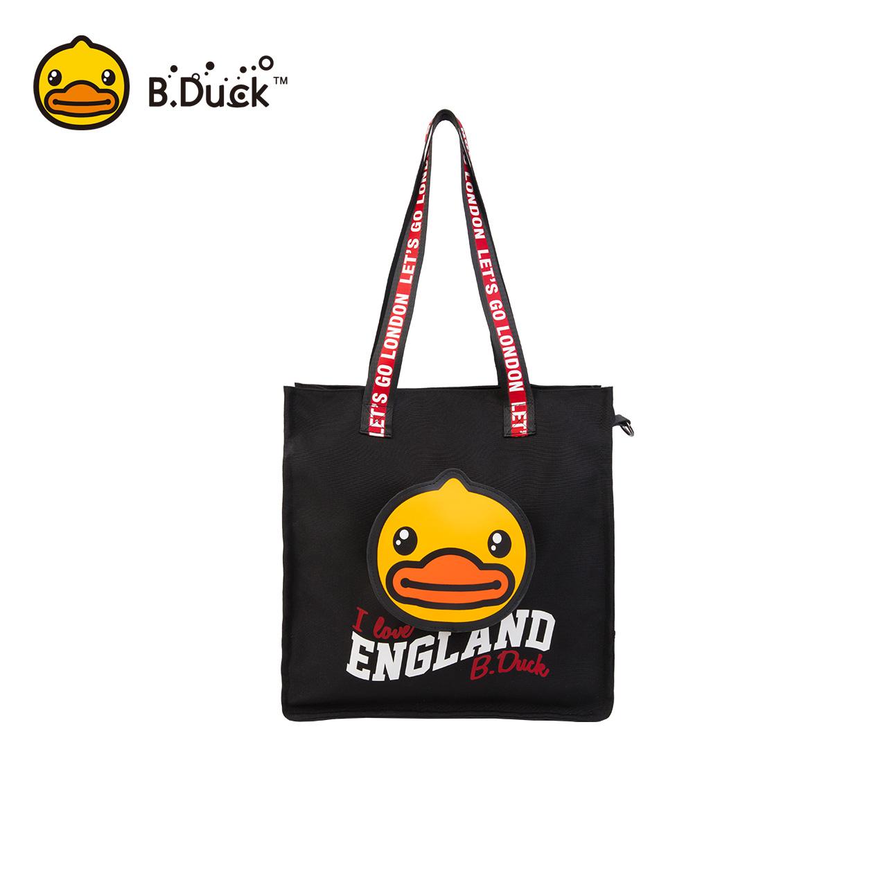 B.Duck小黄鸭England系列牛津布手提斜挎包时尚潮流2018新品