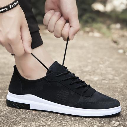夏季新款男鞋时尚休闲运动鞋男士板鞋低帮帆布鞋子男韩版百搭潮鞋