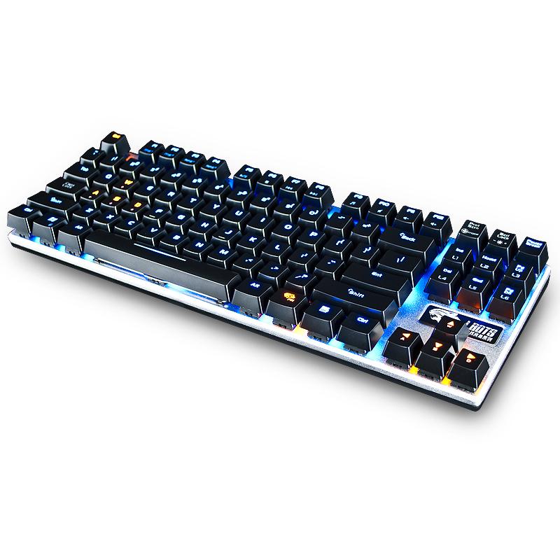 达尔优牧马人机械键盘EK815有线笔记本台式电脑通用吃鸡游戏青轴黑轴87键金属茶轴红轴朋克电竞狗亚是什么软件网吧网咖