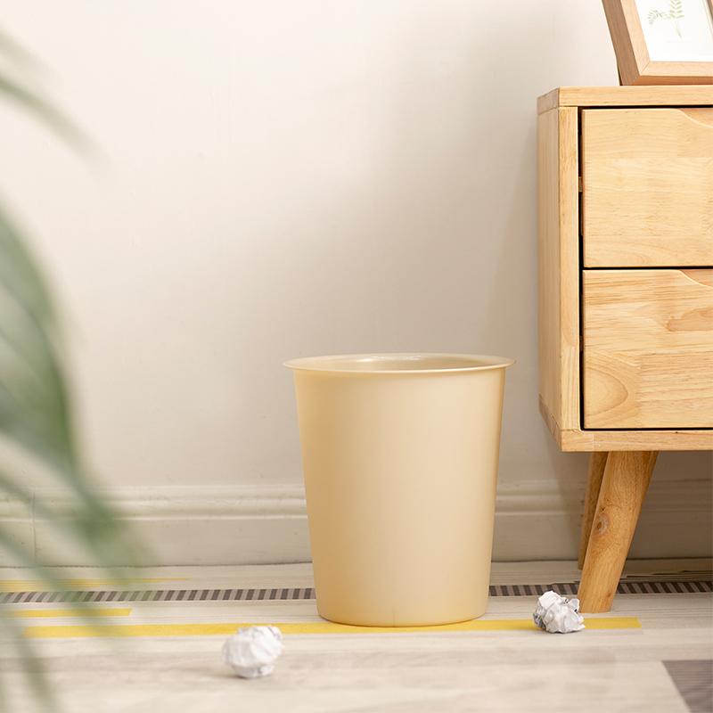 爱丽思IRIS 圆形垃圾筒环保家用厨房四色分类垃圾桶小号彩色无盖