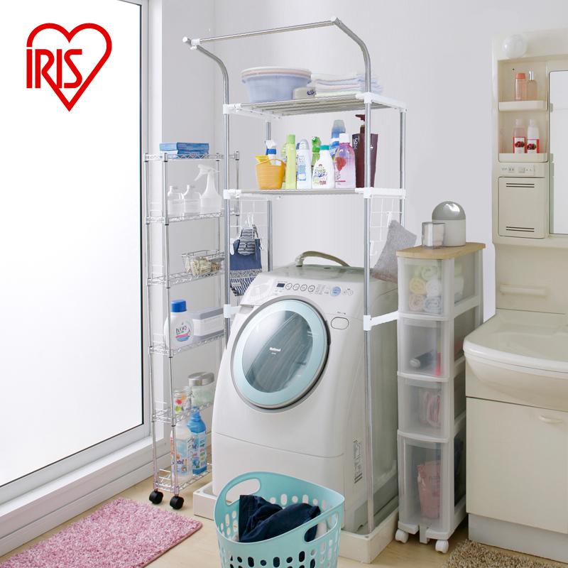 爱丽思IRIS 浴室置物架洗衣机多功能厨房整理架落地储物架HLR181P
