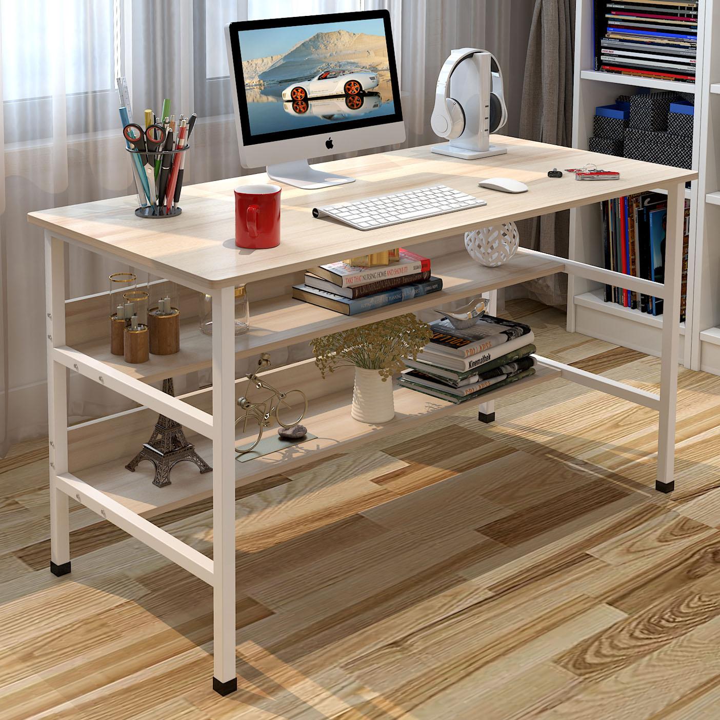 电脑桌台式家用笔记本电脑桌子简约现代书桌经济型写字台办公桌子