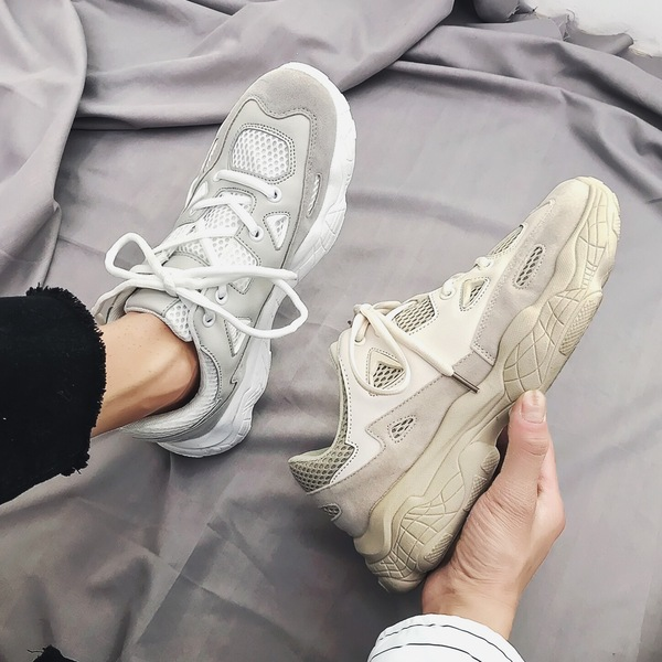 Father's Shoes in Spring and Summer Men's Shoes Sports Shoes Korean Edition Leisure Net Cloth Student Trend Coconut 800