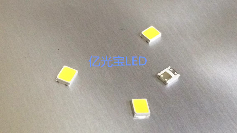 LED SMD 2835 is white 6V 1W lighting beads bracket gold and silver dual-chip 50 yuan / K