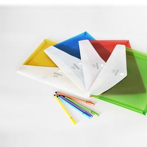 立体按扣透明文件袋A4塑料文件资料档案袋收纳袋学生试卷袋5个装
