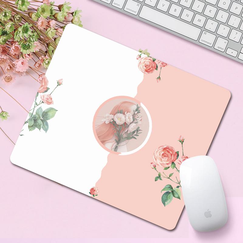 原创清新系鼠标垫 可爱电脑办公女生小号家用创意文艺鼠标垫定制